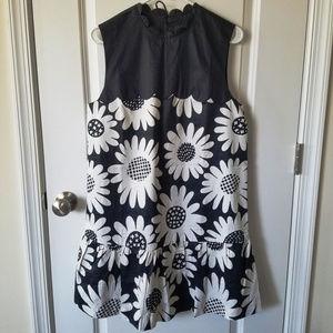NWOT Daisy Drop-Waist Scallop-Trim Dress